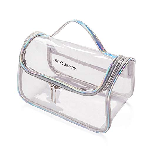 niumanery Multifunctional Transparent Cosmetic Bag Makeup Pouch Toiletry Travel Organizer 01#
