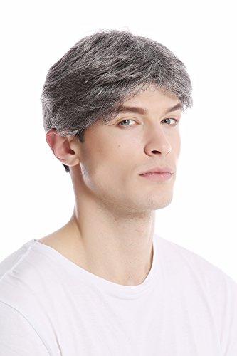 WIG ME UP - GFW1168-44 Parrucca Uomo Corta Giovanile Disinvolta Alla moda Grigio Grigio scuro con Nero