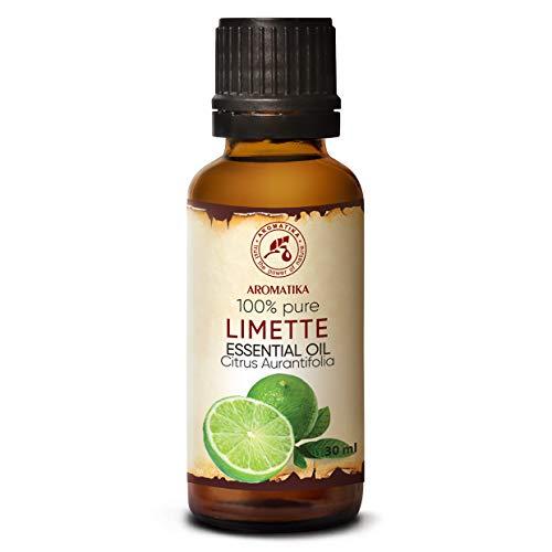 Olio Essenziale di Lime 30ml - Citrus Aurantifolia - Puro Oli per Aromaterapici - Cura del Corpo - Diffusori - Calmante - Cura delle Unghie - Buon Umore