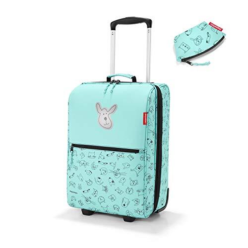 Reisenthel Kids - Set da viaggio per bambini con trolley, con piccolo portamonete (gatto & dog''s menta, valigetta)