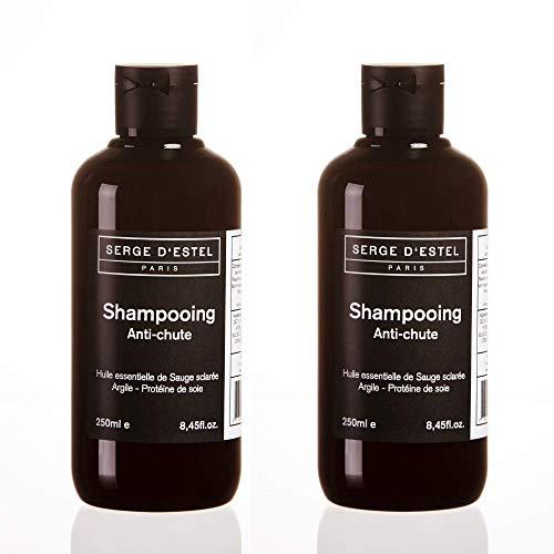 Shampoo Anticaduta di Capelli 250ml x2 Shampoo per la Crescita dei Capelli Formulato da Olii Essenziali Fatto a Parigi Non Testato su Animali
