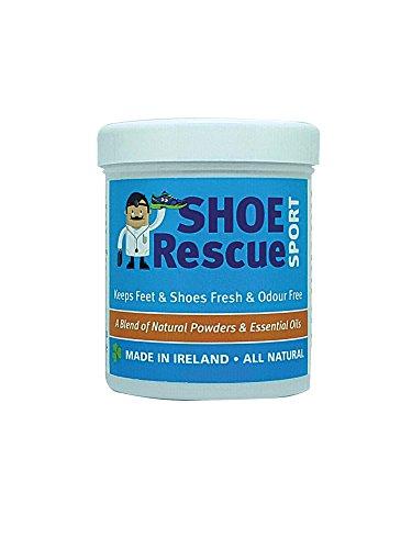 Polvere per scarpe 100g Elimina l'odore di scarpe e piedi Sviluppato da un podologo registrato Shoe Rescue un rimedio deodorante naturale al 100%
