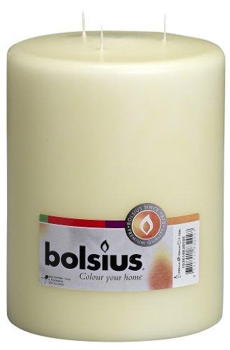 Bolsius, Candela a più stoppini in Cera di paraffina, Colore Avorio, 15 x 20cm
