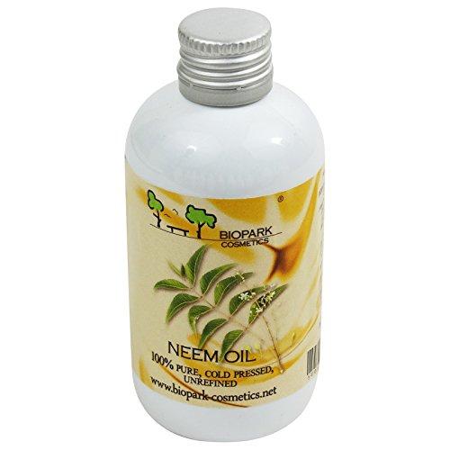 Biopark - Olio di Neem Spremuto a Freddo Biologico per Pelle Impura Antiforfora 100 ml