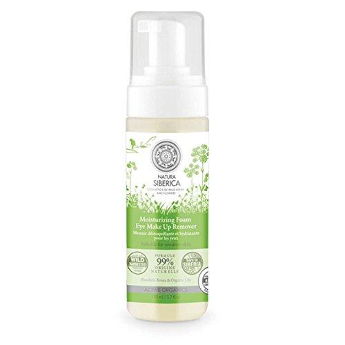 Natura Siberica Mousse Detergente Struccante Occhi Idratante, Adatto a Pelli Sensibili - 170 ml