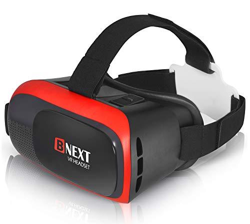 Realtà Virtuale, VR Occhiali Compatibile con iPhone & Android – Gioca con I Tuoi Giochi più Belli e Guarda Film in 3D & 360 con Questi Nuovi Confortevoli Occhiali VR (Red)