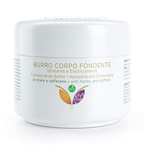 CREMA Burro Corpo, Nutriente e Rassodante Pelle secca e screpolata, a base di Zafferano, Miele,Olio di Canapa - Burro di Karitè - BIOLOGICO