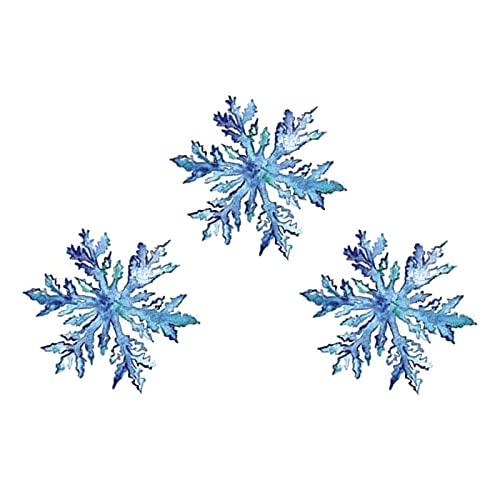 5 fogli adesivi tatuaggio temporaneo fiocco di neve uomini e donne impermeabili che durano dietro l'autoadesivo del tatuaggio dell'orecchio