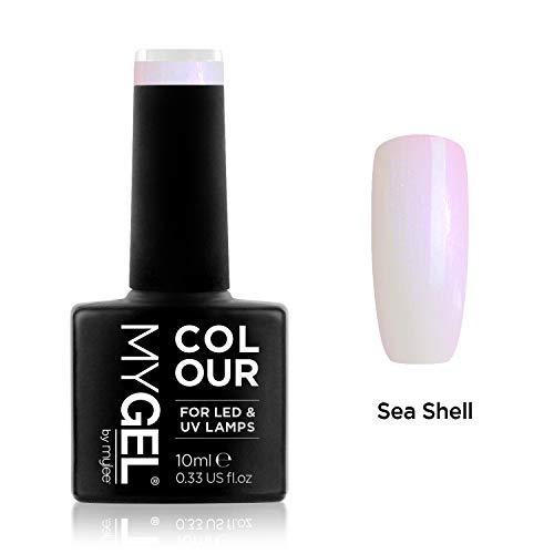 Smalto MyGel, da MYLEE (10ml) MG0050 - Sea Shell UV / LED Nail Art Manicure Pedicure per uso professionale in soggiorno ea casa - Lunga durata e facile applicazione