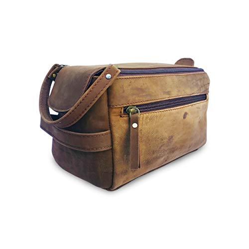 Handmade Leather Unisex Toiletry Bag, Travel Dopp Kit, Toiletries Organizer, Cosmetics, Makeup Bag, Shaving Kit, Best Gift for Men or Women
