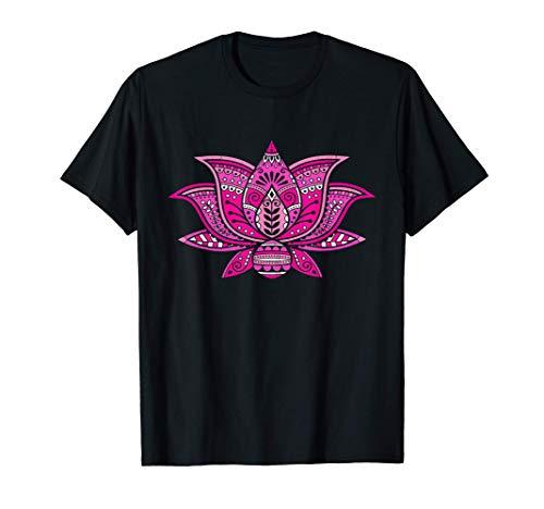 Rosa Fiore di Loto Mandala Meditazione Calma Tatuaggio Regal Maglietta
