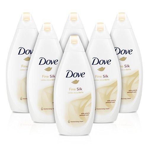 dove fine Silk beauty Bath Cream, 500ml, confezione da 6