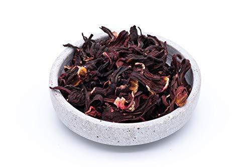 Fiori di ibisco biologici - 250g - fiori interi - ideali per tè ai fiori di ibisco - essiccati al sole e naturali - cibi crudi - dall'Uzbekistan