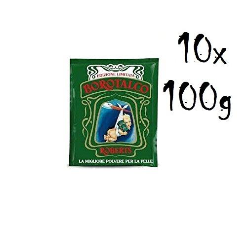 10 X BOROTALCO ROBERTS polvere per il corpo 100 G talco, polvere per il corpo, talco