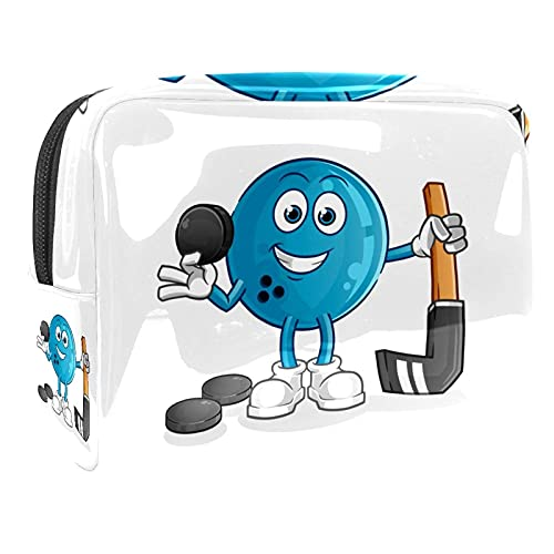 Cosmetic Bag for Women Bowling Adorable Roomy Makeup Bags Travel Waterproof Toiletry Bag Accessories Organizer 7.3x3x5.1in