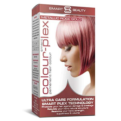Smart Beauty Permanente Tinta Capelli, Metallico Pastello Colore con Nutriente Nio-Active Plex Trattamento per Capelli, 150 ML - Oro Rosa, 150 Milliliters
