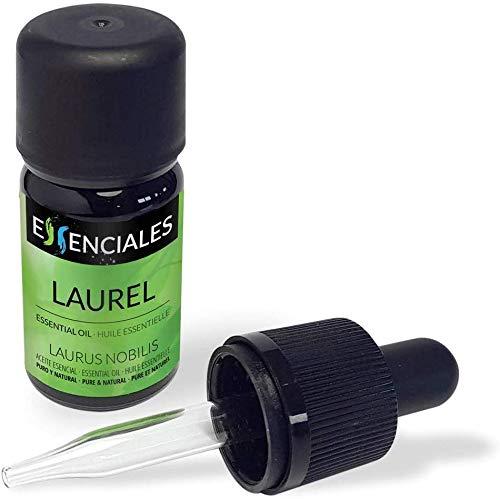 Essenciales – Olio Essenziale di Alloro, 100% Puro e Naturale, 10 ml | Olio Essenziale di Laurus Nobilis per Massaggi