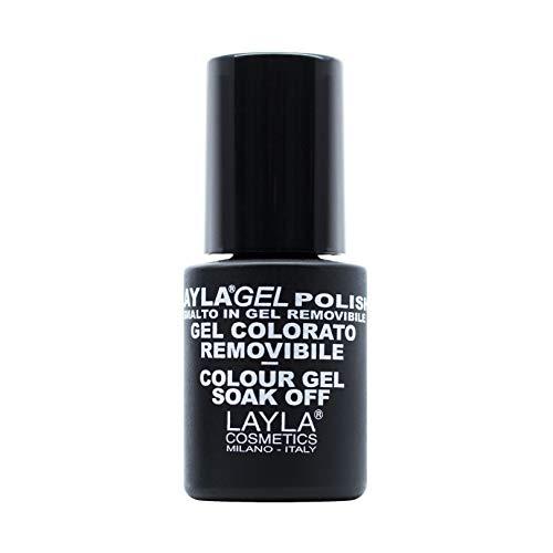 Layla Cosmetics Laylagel Polish Smalto Semipermanente per Unghie con Lampada UV, 1 Confezione da 10 ml, Tonalità Nude
