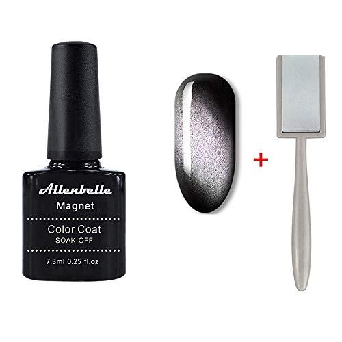 Allenbelle Smalto Semipermanente Magnetico Nail Polish UV LED Gel Unghie 7.3ml