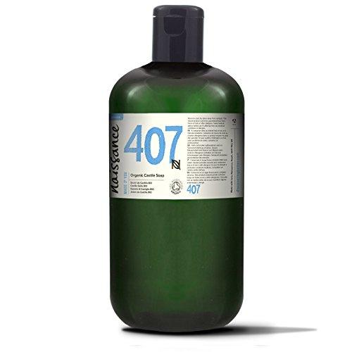 Naissance Sapone di Castiglia liquido certificato biologico senza profumo 1L - Privo di SLS e SLES e Vegano
