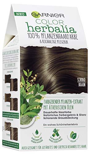 Garnier Color Herbalia Cioccolato, 100% capelli vegetali, colorazione vegetale, Vegan, confezione da 3 (3 X 1 pezzi)