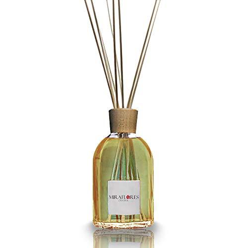 Diffusore di Essenze e Aromi per Ambiente alla Vaniglia Piccante da 100 ml - Con 9 Bastoncini in Legno di Bambù - Profumi, Fragranze e Oli Essenziali Naturali - Profumo Intenso e Duraturo