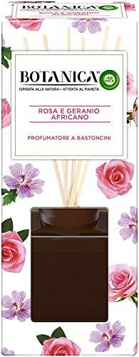 Airwick Botanica, Profumatore per Ambienti con Diffusore a Bastoncini, Fragranza Rosa e Geranio Africano, Fragranza Naturale, Confezione da 80 ml