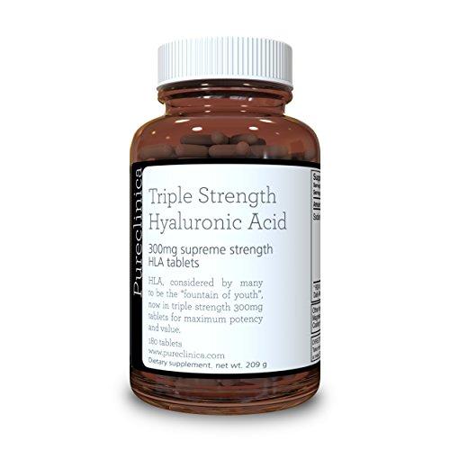 Acido Ialuronico 300mg x 180 compresse (fornitura da 3 mesi). Acido Ialuronico a Tripla Forza. 300% volte più forte di ogni altra compressa di AI SKU: HLA3