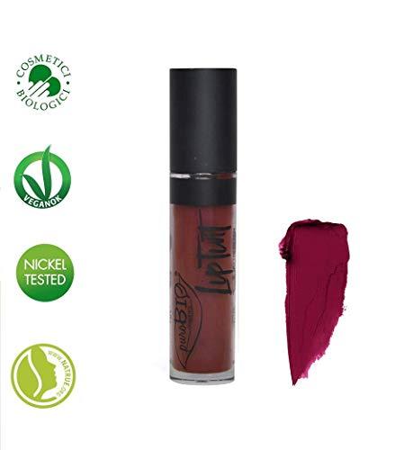 PUROBIO COSMETICS - Lip Tint n.06 - Tonalità Borgogna - Rossetto Liquido Altamente Pigmentato - Finish Opaco -Biologico - Vegano - Nickel Tested - 4 ml