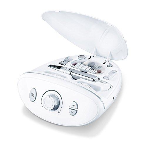 Beurer MP 100 Set Professionale per Manicure e Pedicure con Accessori Completi, Bianco