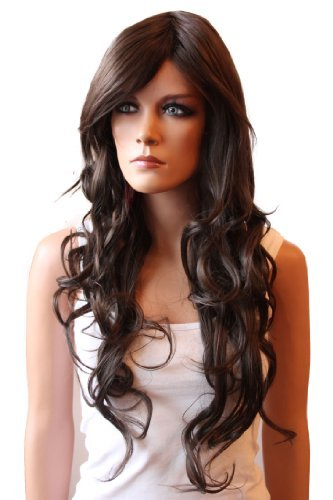 PRETTYSHOP Pretty Wig WLR10Parrucca temoresistente color marrone cioccolato, capelli lunghi ondulati, in fibra sintetica