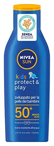 Nivea Sun Kids Latte Solare Protettivo SPF50+ per Bambini, 200ml