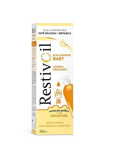 RestivOil Baby Detergente Delicato per Bambini, Olio Fisiologico con Azione Protettiva e Anti Irritante, per la Pelle Sensibile e Delicata dei Bambini, 250 ml