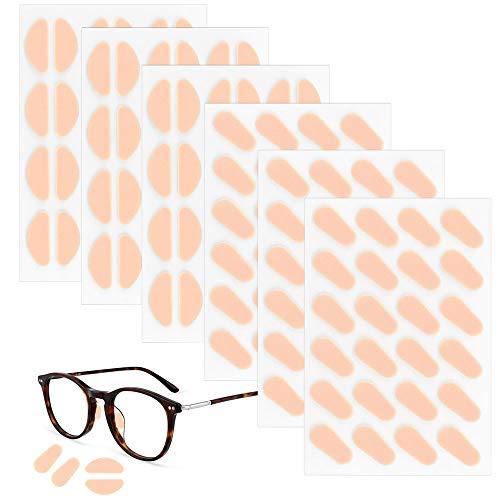 TANCUDER 72 Paia Naselli per Occhiali Adesivi Naselli Antiscivolo Occhiali in Spugna 2 Stili Naselli per Occhiali da Vista Morbidi Naselli Autoadesivi per Occhiali da Sole(Colore della pelle)