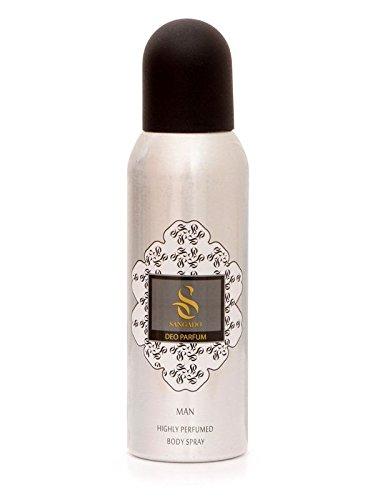 SANGADO Invincible Profumo Deodorante Spray Concentrato, Lunga Durata, Senza Alluminio, Senza Gas, Profumo Lussuoso, Essenze Francesi, Fragranza Acquatica Legnosa con una Sensazione Raffinata, 150 ml