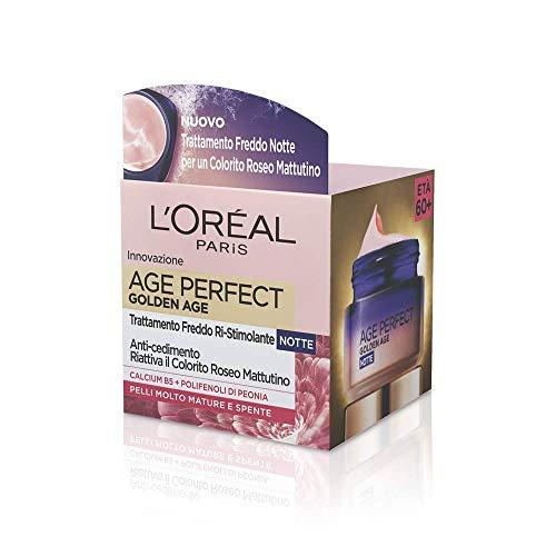 L'Oréal Paris Age Perfect Pro-Calcium Crema Viso Fortificante, Notte - 50 ml