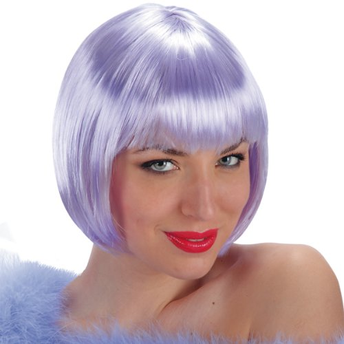 Parrucca Lovely lilla caschetto glicine con frangia