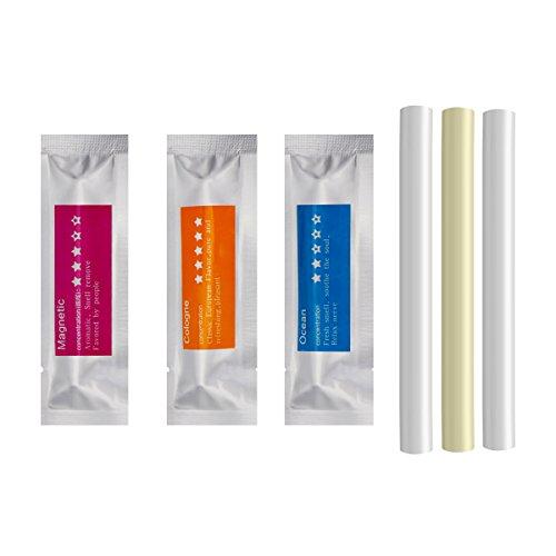 Ricariche per deodorante per ambienti, set di 3 bastoncini di spugna (Colonia, Ocean, Magnetica)