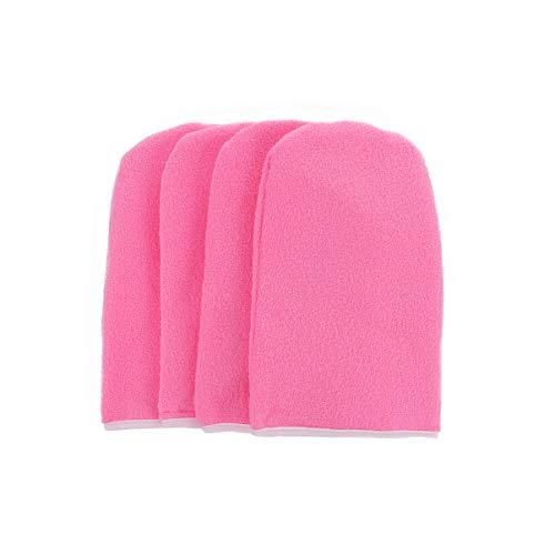 Beaupretty - 2 paia di guanti in paraffina, guanti in spugna per la cura della cera, guanti isolati in cotone per bagno di paraffina (rosa)