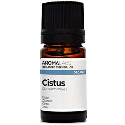 Aroma Labs Cisto Bio - 5Ml - Olio Essenziale Bio E Naturale Al 100% - Qualità Verificata Mediante Cromatografia - Aroma Labs - 5 ml