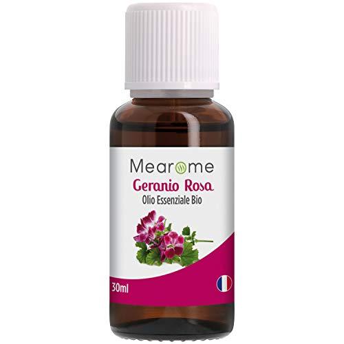 Olio Essenziale di Geranio Rosa | Biologico | 100% Puro e Naturale | HEBBD | HECT | 30 ml | Nutrimea Mearome