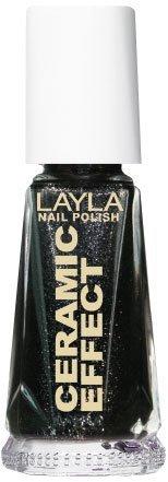 Smalto Layla Ceramic Effect N.26 Black Star Nail Polish by LAYLA COSMETICS