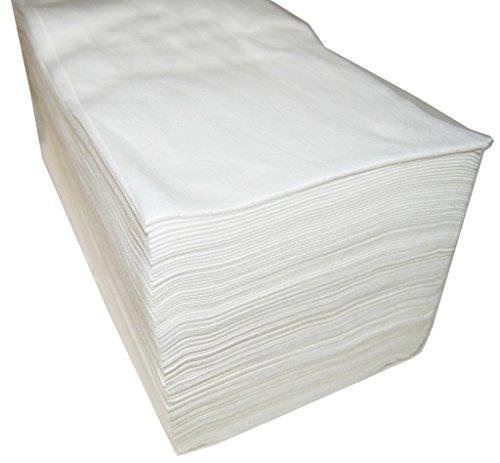 Asciugamani Monouso 40x 80cm, in spunlace, 100unità, parrucchiere/estetica, colore: bianco.
