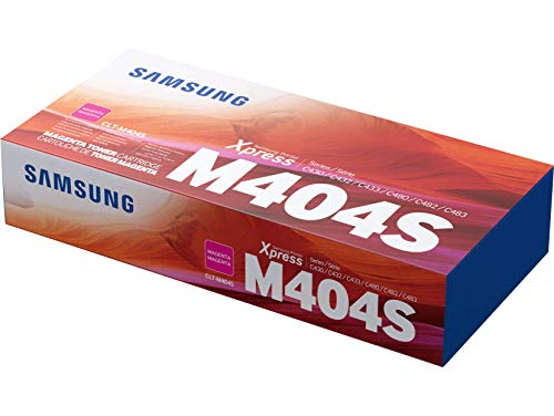 Samsung CLT-M404S, SU234A, Cartuccia Toner, da 1.000 pagine, compatibile con le stampanti Samsung LaserJet Xpress Color Serie C430, C432, C433, C480, C482 e C483, Magenta