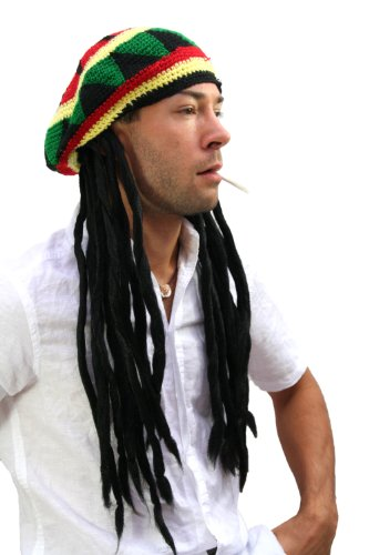 WIG ME UP - Copricapo con Dreadlocks (Bob Marley, Rastafari)