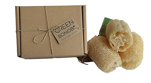 3 x spugna naturale vegetale da bagno e doccia, luffa, loofah biologica, vegana, esfoliante, coltivata in Spagna, biodegradabile.