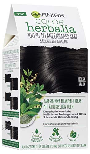 Garnier Color Herbalia - Colore per capelli vegetale, con henné, indaco e oli essenziali, confezione da 3