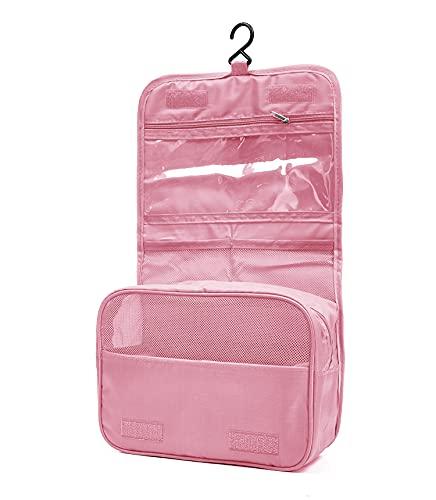 Eleccio Bella Beauty case portatile da viaggio, in tela, 4,84 litri (Rosa)