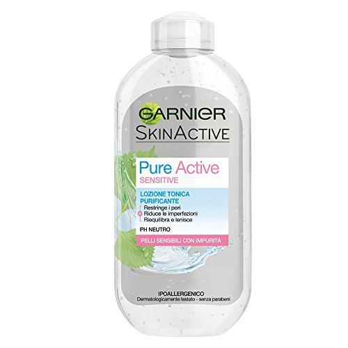 Garnier Pure Active Sensitive Lozione Tonico per Pelli Sensibili con Impurità, Purificante - 200 ml