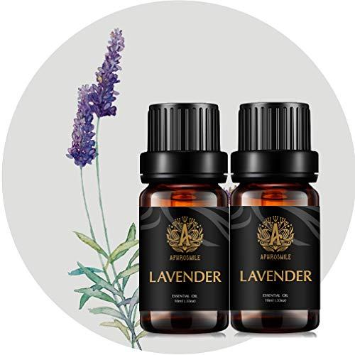 Aromaterapia lavanda Oli essenziali di, 100% Pure Lavanda oli essenziali Profumo Kit per diffusore, umidificatore, massaggi, 2*10ml terapeutico Grade lavanda Aromaterapia oli essenziali Fragrance Set